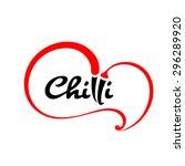 chilli logo design | Shutterstock .eps vector #296289920