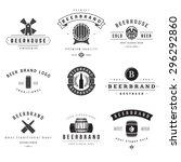 vintage beer brewery logos ... | Shutterstock .eps vector #296292860