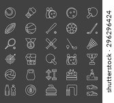 sport icons set   vector sports ... | Shutterstock .eps vector #296296424