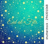 muslim community festival  eid... | Shutterstock .eps vector #296301068