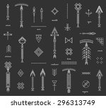 set of geometric shapesand... | Shutterstock .eps vector #296313749