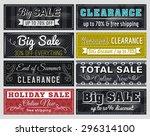 set of special sale offer... | Shutterstock .eps vector #296314100