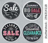 black round banners with sale... | Shutterstock .eps vector #296314118