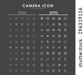camera bold and thin line icons | Shutterstock .eps vector #296319116