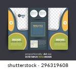 multipurpose tri fold brochure... | Shutterstock .eps vector #296319608