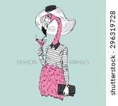 fashion animal illustration ...   Shutterstock .eps vector #296319728