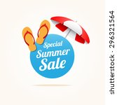 special summer sale   Shutterstock .eps vector #296321564