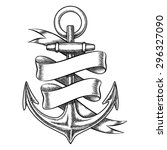 vector hand drawn anchor sketch ... | Shutterstock .eps vector #296327090