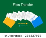 files transfer illustration....   Shutterstock .eps vector #296327993