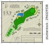 golf course layout. abstract... | Shutterstock .eps vector #296329538