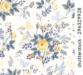 seamless floral pattern with... | Shutterstock .eps vector #296329928