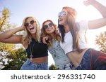 best friends have fun always... | Shutterstock . vector #296331740