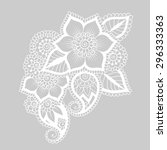 hand drawn abstract henna... | Shutterstock .eps vector #296333363