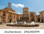 square of saint mary's and... | Shutterstock . vector #296340599