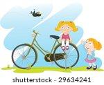illustration of a bird tied to... | Shutterstock .eps vector #29634241