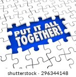 put it all together puzzle... | Shutterstock . vector #296344148