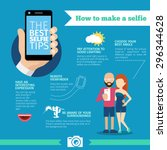 the best selfie tips. how to... | Shutterstock .eps vector #296344628