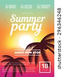 summer beach party flyer | Shutterstock .eps vector #296346248
