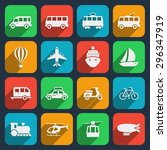 transport icons set. taxi and... | Shutterstock .eps vector #296347919