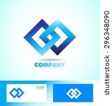 vector company logo icon... | Shutterstock .eps vector #296348090