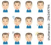 "cute upper body people ""senior... | Shutterstock . vector #296349794"