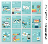 big infographics in flat style. ... | Shutterstock .eps vector #296352719
