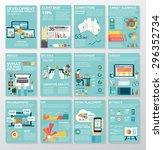 big infographics in flat style. ... | Shutterstock .eps vector #296352734