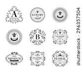 luxury logo template glamour... | Shutterstock .eps vector #296357504