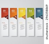 design clean number banners... | Shutterstock .eps vector #296358869