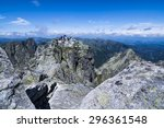 rysy peak  poland   july 10  ... | Shutterstock . vector #296361548