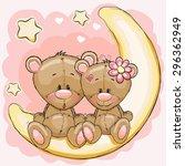 Two Cute Bears Is Sitting On...
