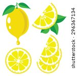 vector lemon. lemon fruit... | Shutterstock .eps vector #296367134