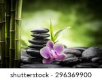 Zen Basalt Stones  Orchid And...