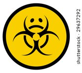 vector bio hazard symbol with... | Shutterstock .eps vector #29637292