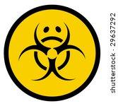 vector bio hazard symbol with... | Shutterstock .eps vector #29637292