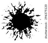 vector ink blotch. design... | Shutterstock .eps vector #296375120