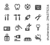 dentist icon set  vector eps10. | Shutterstock .eps vector #296375216
