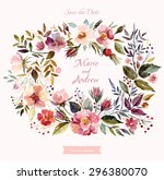 wedding invitation template... | Shutterstock .eps vector #296380070