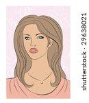 a young girl   Shutterstock .eps vector #29638021