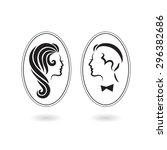 male and female symbols... | Shutterstock . vector #296382686