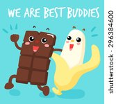 chocolate and banana are best... | Shutterstock .eps vector #296384600