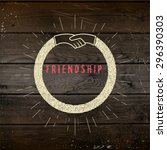 friendship badges logos and... | Shutterstock .eps vector #296390303