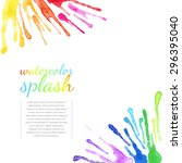 vector watercolor colorful...   Shutterstock .eps vector #296395040