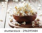 Salt Popcorn On The Wooden...