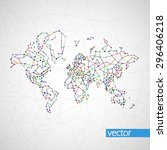 technology image of globe. the...   Shutterstock .eps vector #296406218