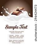 package splash milk with...   Shutterstock .eps vector #296424473