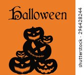 halloween background with text... | Shutterstock .eps vector #296428244