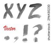 modern vector watercolor...   Shutterstock .eps vector #296430230