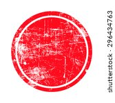 Red Circle Grunge Stamp With...