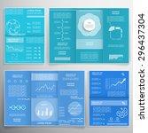 brochures for business reports  ...   Shutterstock .eps vector #296437304